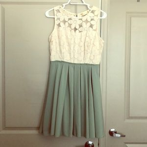 Size M Altar'd State Ivory and Jade dress